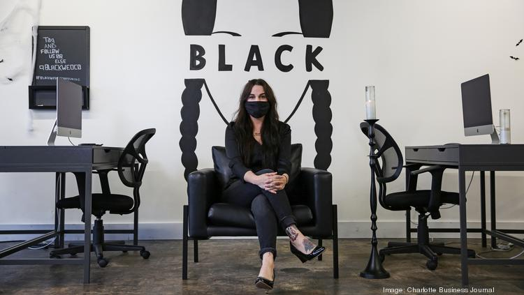 Corri Smith, owner of Black Wednesday, is pictured in the marketing and PR company's empty office.