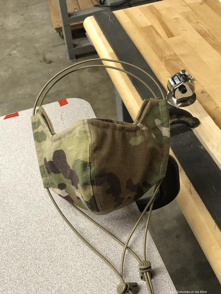 One of more than 400,000 face masks Industries of the Blind in Greensboro is making for the U.S. Army.