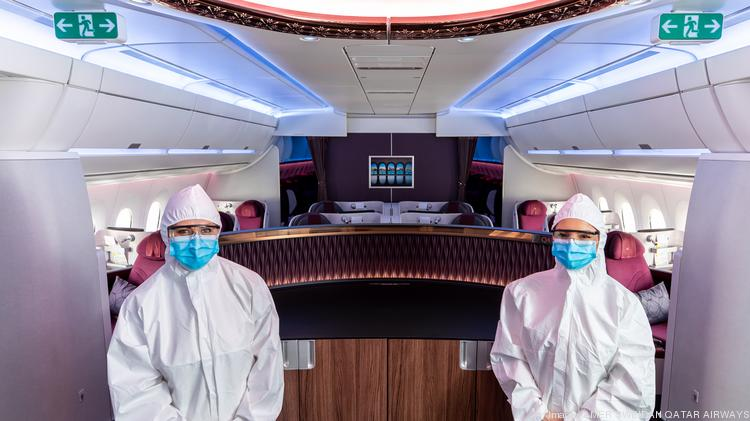 Qatar Airways has further enhanced its onboard safety measures for passengers and cabin crew. The airline is implementing several changes, including the introduction of Personal Protective Equipment (PPE) suits for cabin crew while onboard, as well as a modified service that reduces interactions between the passengers and the crew inflight.