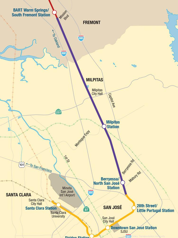 Bart Vta Announce Start Of Service To San Jose Silicon Valley Business Journal