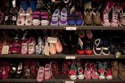 The new Nordstrom Rack has a large children's department, which includes shoes for all ages.