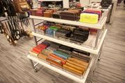 Clutches are on display at Nordstrom Rack.