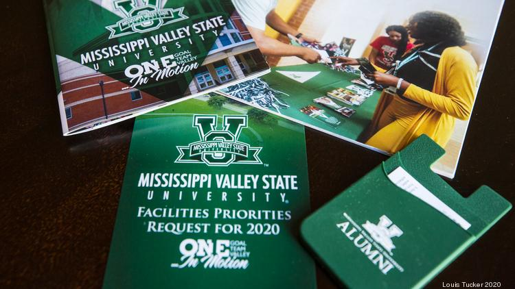 Mississippi Valley State University materials designed by Redmond Design Service. The firm's principal, Jerry Redmond, is an MVSU alumnus.