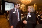 Chris Layden of Experis chats with Burke.