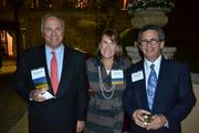 From left, Sam Schreiber of Wells Fargo, Susan Lacz of Ridgewells Catering and David Bradt of WTAS LLC.