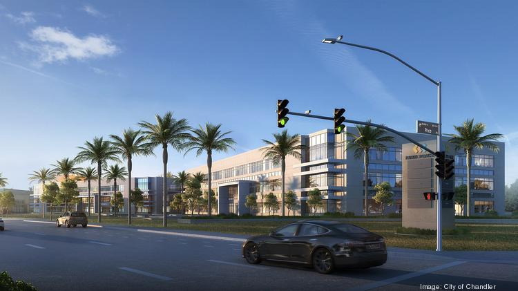 An artist's rendering shows the next phase of Allred Park Place in Chandler in the Price Road Corridor.
