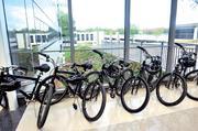 A bike program was created to allow tenants to navigate the sprawling development.