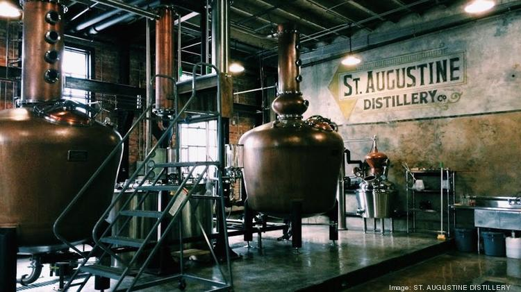 A photo provided by St. Augustine Distillery, shows the interior of the distillery in St. Augustine, Fla. St. Augustine Distillery made 10,000 gallons of disinfectant and distributed most of the supplies to hospitals and emergency responders along Florida's northeastern coast. (St. Augustine Distillery via The New York Times)