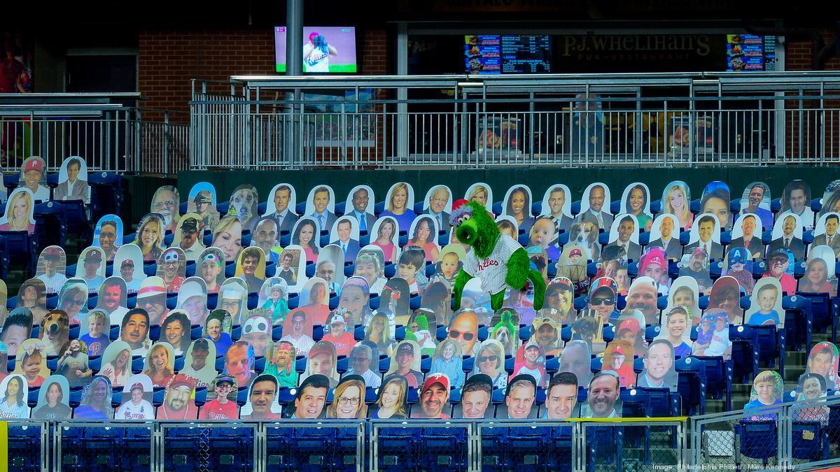 Phillies hit 10,000 faces in fan cutout crowd, from chipmunks to Bob Ueker - Philadelphia Business Journal