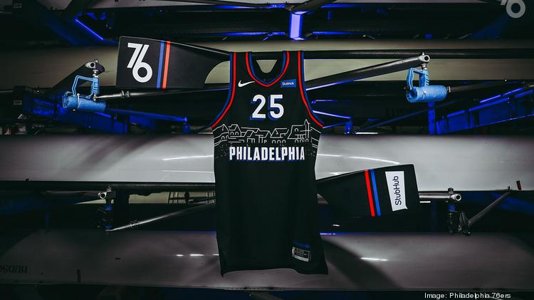Philadelphia 76ers Unveil Black Boathouse Row Themed City Jerseys Philadelphia Business Journal