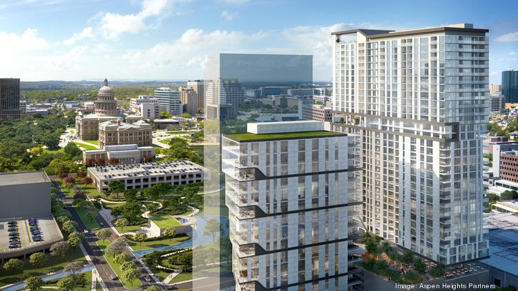 Both an office tower, left, and a residential tower are proposed for the HealthSouth site.