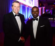 Michael Paris, president of Council for Quality Growth with Mayor Kasim Reed.