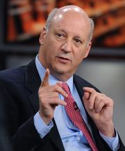 "Ronald ""Ron"" Shaich, founder, chairman and chief executive officer of Panera Bread Co., speaks during a roundtable discussion on Bloomberg Television in New York Oct. 10. Top retail executives discussed the future of the retail business."