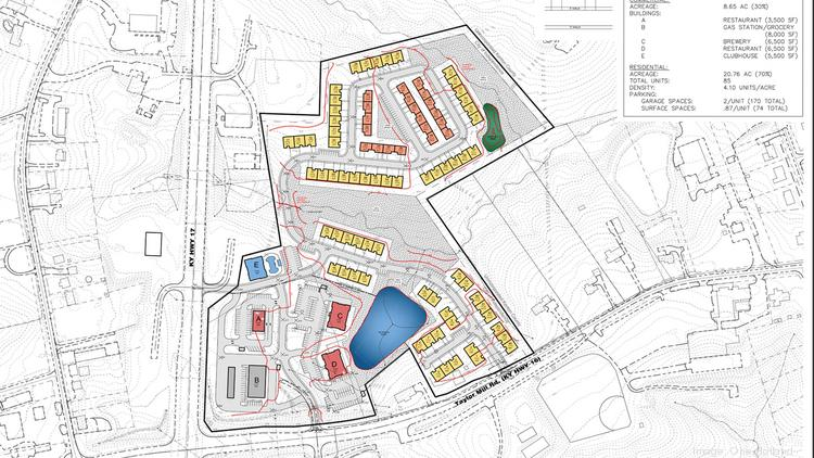 This site map shows the planned $22 million development, the Downs of Nicholson.