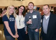 Macy English, Sondra Brunone, Joe Youngblood and Scott Saldinger at the Irving Convention Center After Hours event sponsored by the Dallas Business Journal.