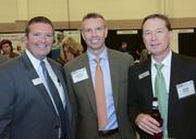 Ben Patterson, Frank Busch III and Steven Patrick visited at the DBJ's After Hours event at the Irving Convention Center.