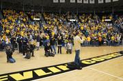 Several thousand Shocker fans attended Sunday's welcome home rally for the Wichita State Basketball game after their Saturday night 76-70 victory over No. 1 seed Gonzaga.