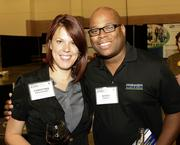 Christina Montgomery and Bobby Garrett enjoy themselves at the DBJ's After Hours event.