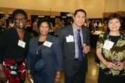Elizabeth Quaye, Connie Rogan, Jay Correa and Andrea Macaluso network at the DBJ After Hours event.