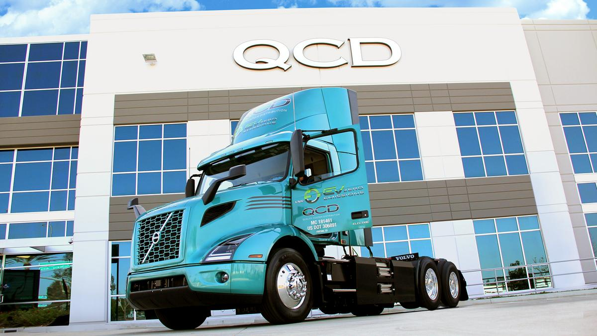 Volvo Trucks North America Greensboro receives largest single order for its new VNR Electric model from Quality Custom Distribution - Triad Business Journal