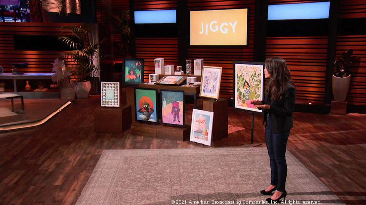"""Kaylin Marcotte, founder of New York jigsaw puzzle company Jiggy, faces off against the judges of the ABC show """"Shark Tank."""""""
