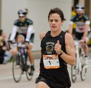 Dave Berdan, 32, an Owings Mills resident and teacher at the Garrison Forest School, became the first local to win the 26.2-mile Baltimore Marathon. He finished the race in 2:30:05.