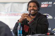 Ravens Hall of Famer Jonathan Ogden co-hosts a pregame show on WBAL-AM. The show is recorded live outside M&T Bank Stadium.