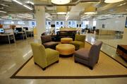 The 10,000-square-foot office is stylish, with an open floor plan.