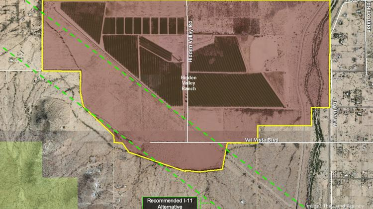This 1,160-acre parcel called Hidden Valley Ranch on the outskirts of the city of Maricopa is zoned for 3,600 homes.