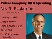 No. 5 Ecolab Inc. Pictured: Chief Technical Officer Larry Berger