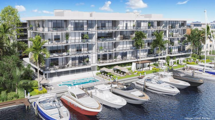 Gold Krown is building 160 Marina Bay in Fort Lauderdale, replacing an older condo.