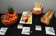 Steak tortas and a sampling of the cheese, fruit and vegetables from the farm-to-fork buffet menu available in suites at Sleep Train Arena.