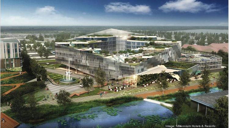 """The 263-room """"M Social"""" hotel from Millennium Hotels & Resorts, currently under construction in Sunnyvale, is among a dozen hotels accounting for 1,870 rooms in Santa Clara county, Northern California's hottest area for new hotels."""