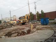 When demolition work is finished, a pre-fabricated White Castle restaurant will be constructed at the site.