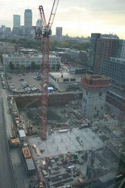 Construction is underway on VanNess in the Fenway.