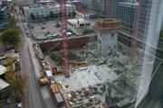 The Hub's first on spec office building since 2010 is under construction in the Fenway.
