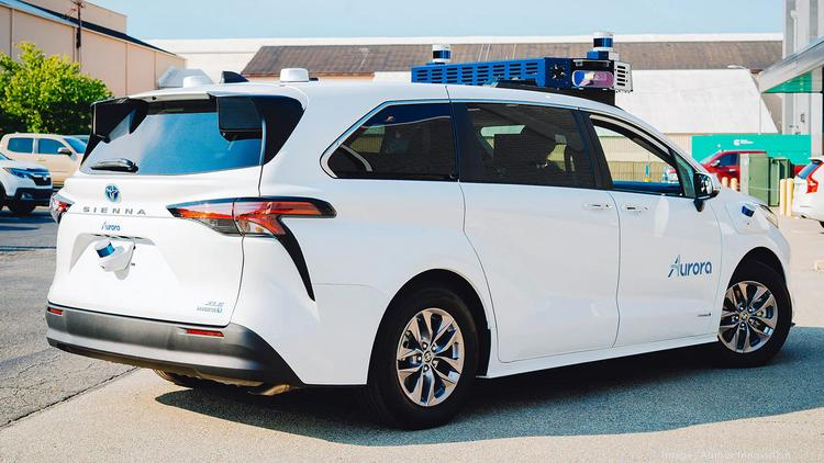 Bay Area self-driving car startup Aurora offers sneak peek of Toyota-based  self-driving taxis - Silicon Valley Business Journal