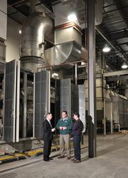 From left, John Moynihan, managing director of CoGen Power, with Emilio Genzano and James Morse of Albany Medical Center.