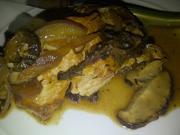 Meatless scallopini with mushrooms