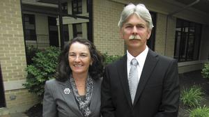 Connie Sawdey, president of Beavercreek-based Sawdey Solution Services, and her husband Jeff Sawdey, vice president.