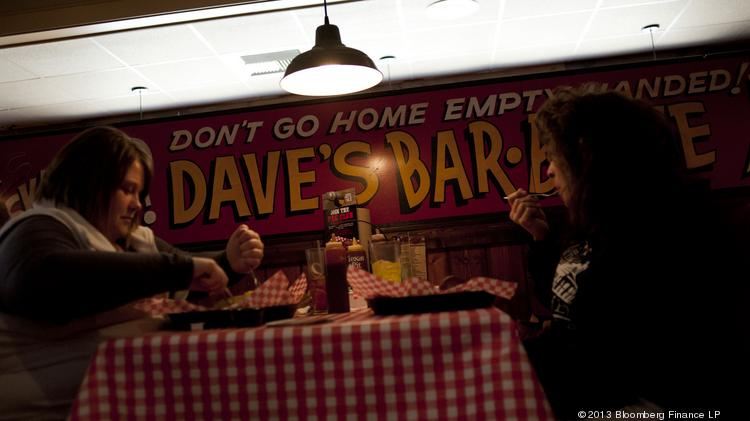 Customers Eat In The Dining Room Of A Famous Dave S