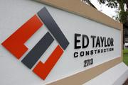 Ed Taylor Construction's rebranded logo
