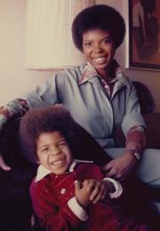 Faye Coleman with son Sekou in the mid-1970s in Minneapolis.