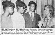 Faye Coleman receives a high school service award in the 1960s.