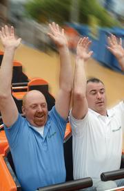 GarbageMan owners Jon Huber, left, and Jason Hartman