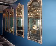 Mirrors along the restaurant's south wall.