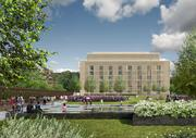 Part of the plan for the West Heating Plant includes opening up the property to the public with features including a park and water features.