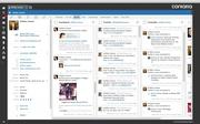 The social feed as viewed on the Contatta software.