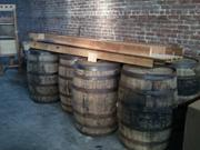 Oak whiskey barrels will be used to store Oak Park Brewing Co. Beer.