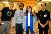 (From left) Levi Weinhagen, engagement coordinator for TPT, rapper Malik Watkins, Karoline Wells, formulation chemist at The Elixery and Leif Brostrom, social media and web specialist at TPT